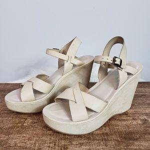 Kork-Ease Womens Bette  Wedge Buckle Strap sandal